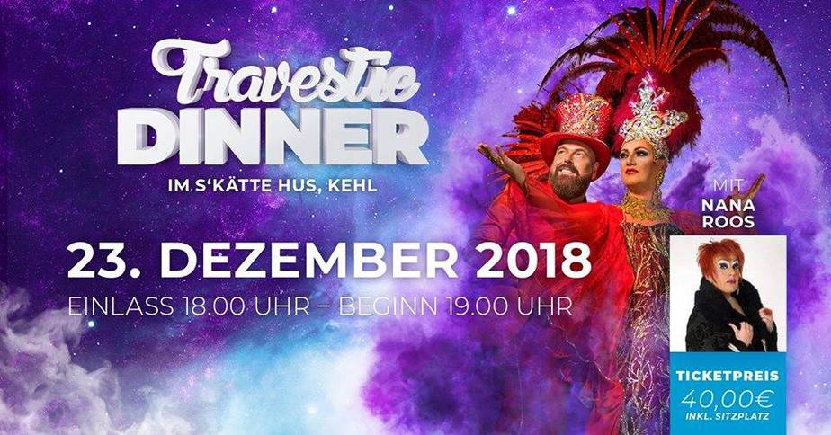 Chapeau Claque Travestie-Dinner am 22.12 + 23.12